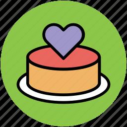 cake, dessert, love cake, romantic cake, valentine cake icon
