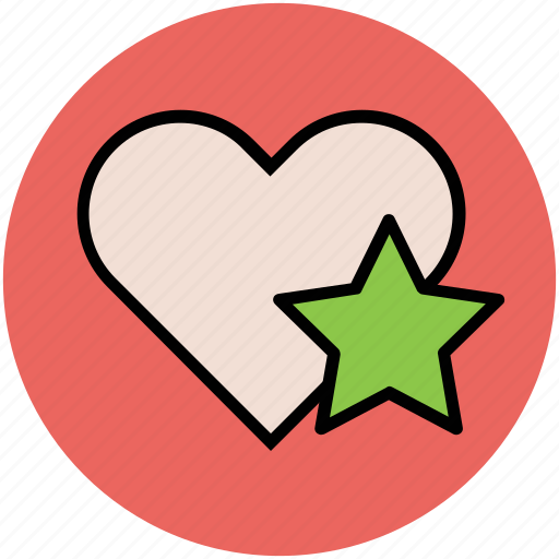 favorite, heart, like, love, romance, star, star and heart icon