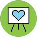 chalkboard, greeting, heart board, love, romance icon