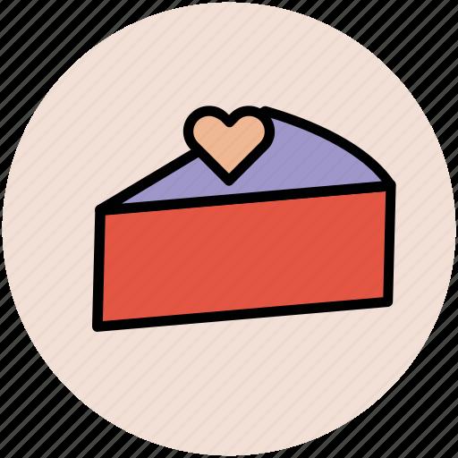 bakery, cake, dessert, heart cake, pastry, sweet icon