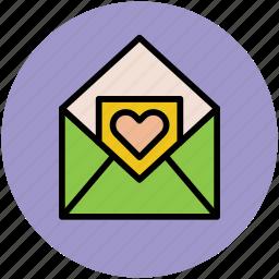 envelope, envelope with heart, love message, valentine greeting, valentine letter icon