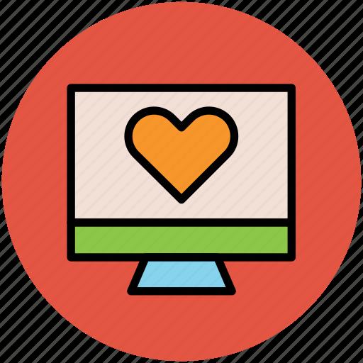 lcd, love message, love sign, love symbol, screen heart icon