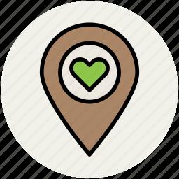 heart, heart locator, heart pin, love pin, love symbol, romance icon