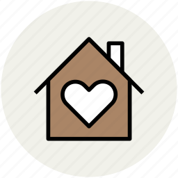 house, love, love home, lover's home, sweet home icon