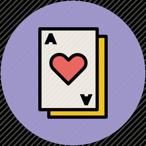 gambling, heart card, playing card, poker card, poker heart icon
