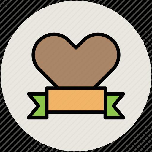 bookmark, heart ribbon, heart shape, love, romance, valentine icon