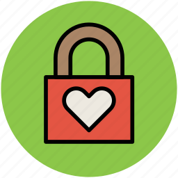 heart care, heart lock, heart padlock, love, love lock icon