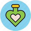 heart spray, love, perfume, romance, scent icon