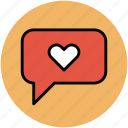 chat bubble, love chat, love speech bubble, lovers chat, online love icon