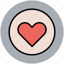 circular heart, favourite, heart, like, love, romance, valentine icon