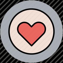 circular heart, favourite, heart, like, love, romance, valentine icon