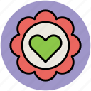 decoration, flower, greeting, heart, heart decoration icon