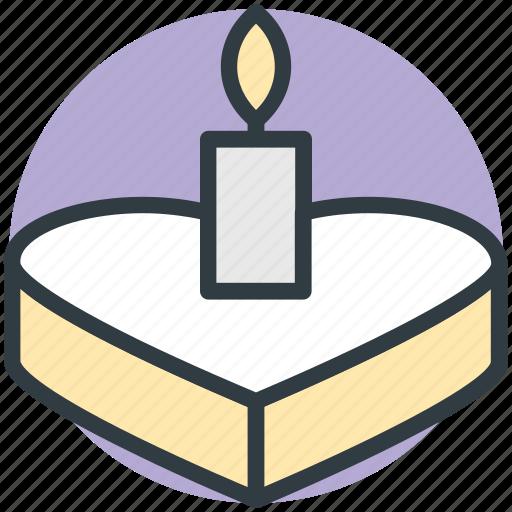 cake, candle, heart shaped, valentine day, wedding icon