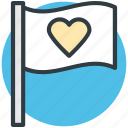 feelings, flag, heart sign, love theme, sentimental icon