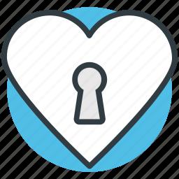heart key slot, love inspiration, privacy, romantic, secret feelings icon