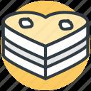cake, chocolate cake, heart shaped, valentine day, wedding cake icon