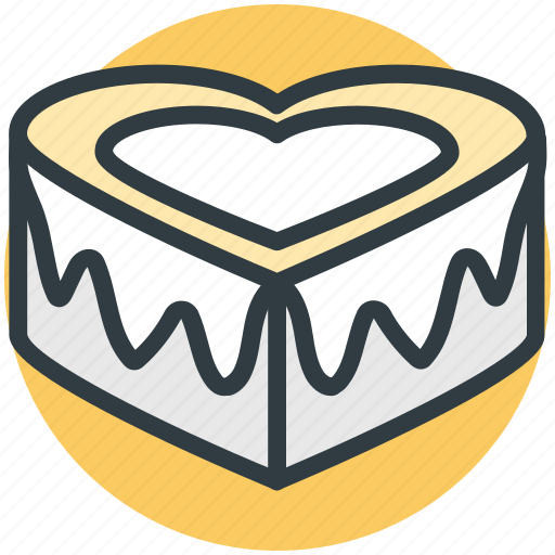 cake, chocolate cake, heart shaped, valentine day, wedding cake icon
