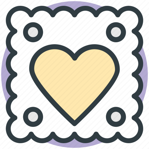 cookie, dessert, food, heart sign, sweet icon