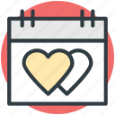 dating, hearts calendar, love inspiration, wedding anniversary, wedding day icon
