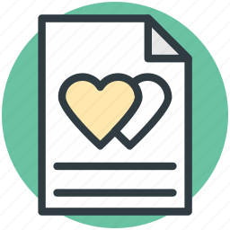correspondence, heart sign, love, love letter, romantic feelings icon