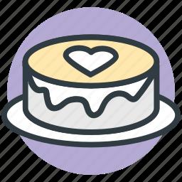 cake, chocolate cake, heart sign, valentine day, wedding cake icon