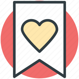 decoration, festive, heart ribbon, heart shape, valentine day icon
