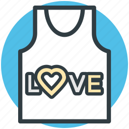 heart sign, love, romantic, shirt, valentine day icon