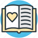 love, love notebook, memo, passion, romantic feelings icon