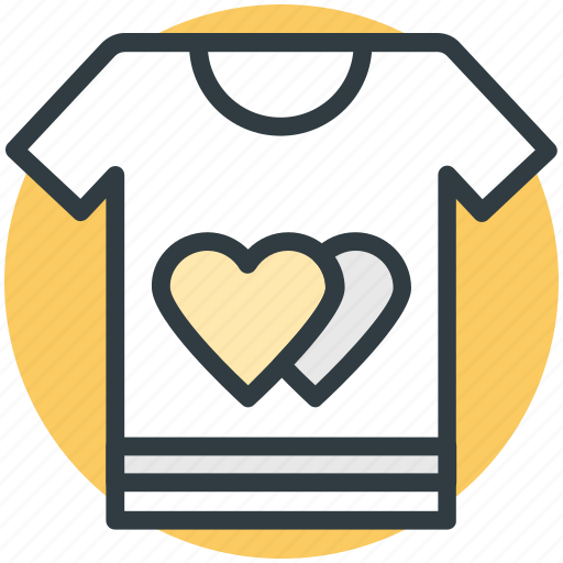 hearts sign, love, romantic, tee shirt, valentine day icon