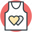 hearts sign, love, romantic, shirt, valentine day icon