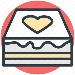 cake, food, heart sign, party cake, sweet icon