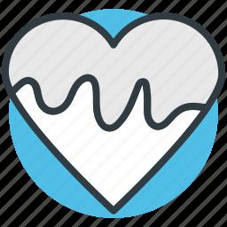 chocolate heart, chocolate syrup, dripping chocolate, joy, valentine day icon