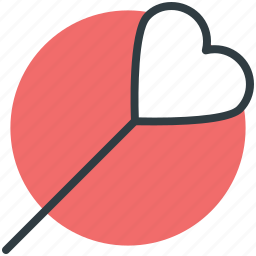 confectionery, heart shaped, lollipop, sweet, sweet snack icon