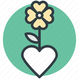 clover flower, clover plant, love inspirations, love theme, plant icon
