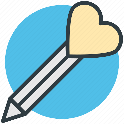 fascination, heart sign, love inspirations, love theme, pen icon