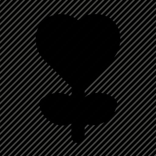 flower, heart, love, romance, valentine icon