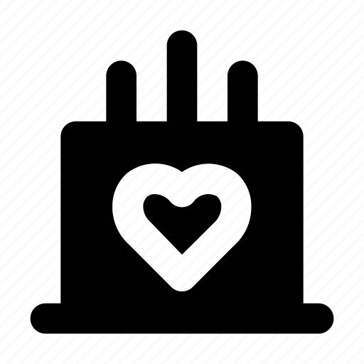 cake, heart, love, romance, valentine icon