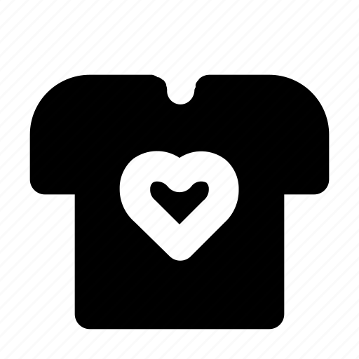 clothes, heart, love, romance, valentine icon