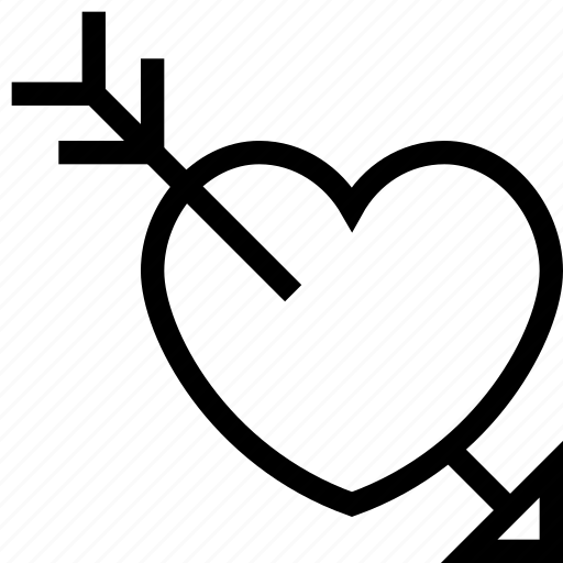 arrow, breakup, cupid, heart, love icon, loving icon