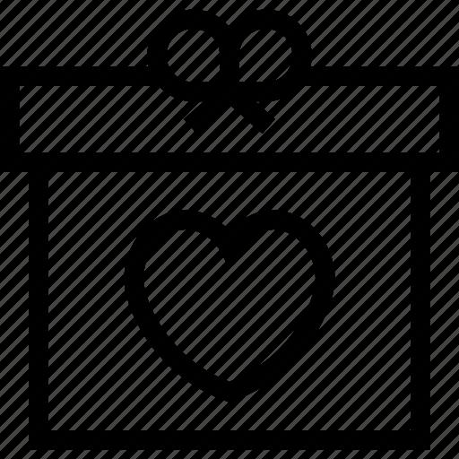 gift box, love, love present, present, valentine gift icon icon