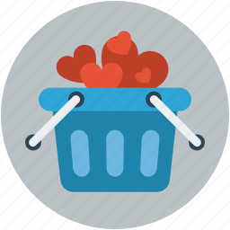 cookies hamper basket, gift basket, gift hamper, gifts, gifts in basket icon