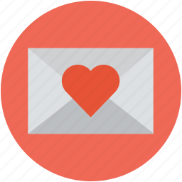 envelope, envelope with heart, letter and love heart, love letter, valentine love letter icon