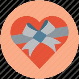 gift box, gift box heart shaped, heart shaped, heart shaped gift, love present, present for lover icon