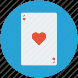ace, ace card, heart poker card, hearts ace, playing card, poker card, poker heart icon