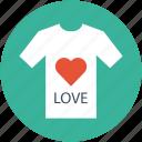 heart tee shirt, love shirt, love tee shirt, t-shirt, valentine shirt icon
