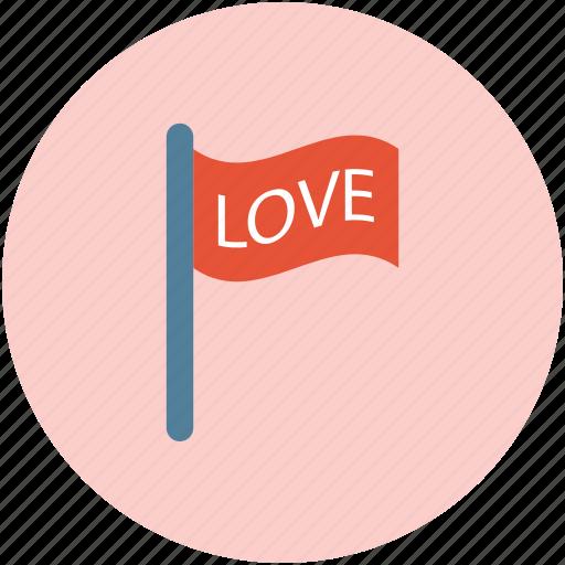 flag of love, love concept, love ensign, love flag, love locational flag icon