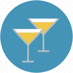 alcohol, alcoholic drink, beverage, cocktail, drink, two glass icon
