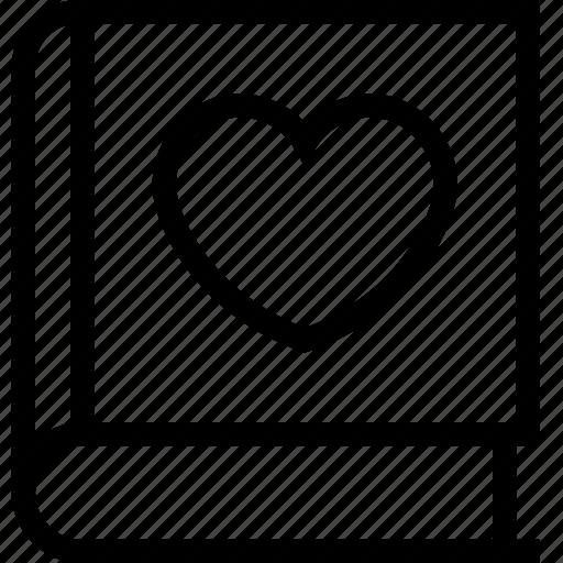 card, guest book, invitation card, love, wedding, wedding card, wedding guest book icon icon