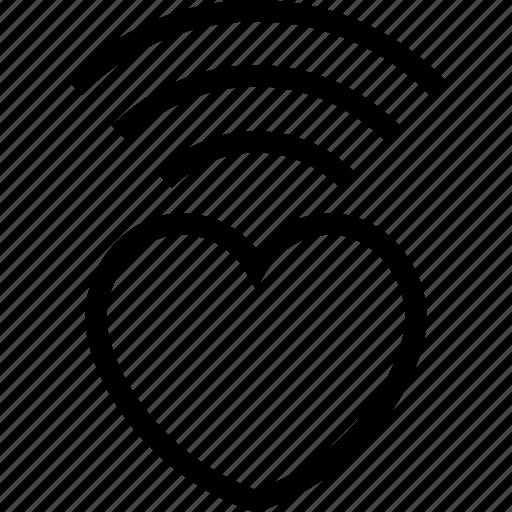 internet, love, radio, valentine, wifi, wireless icon icon