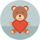 love teddy, teddy, teddy bear, teddy with heart, toy teddy icon